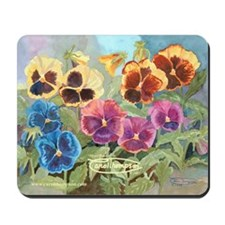 Mixed Pansies Mousepad