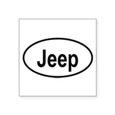 "Cute Jeeps Square Sticker 3"" x 3"""
