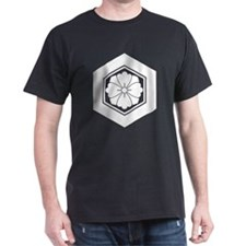 Square flower with Swords in tortoise T-Shirt