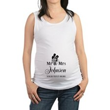 Personalized Mr and Mrs Maternity Tank Top