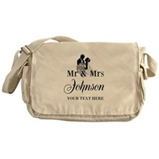 Personalized Mr and Mrs Messenger Bag