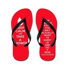 Keep Calm Shower Flip Flops