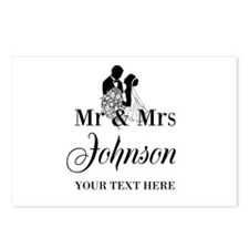 Personalized Mr and Mrs Postcards (Package of 8)