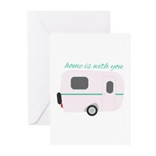 Home Is With You Greeting Cards