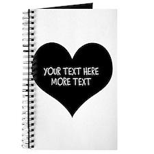 Black Heart Journal For Wedding Planner