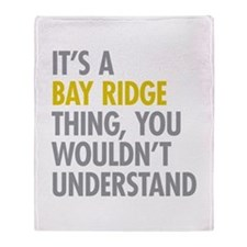 Bay Ridge Thing Throw Blanket