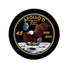 "Apollo 11 45th Anniversary 3.5"" Button"