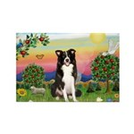 Bright Country/Border Collie Rectangle Magnet (10