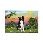 Bright Country/Border Collie Rectangle Magnet