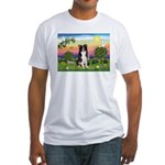 Bright Country/Border Collie Fitted T-Shirt