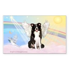 Border Collie Angel Decal