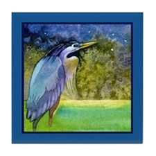 Beautiful Blue Heron Tile Coaster
