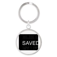Music saved my life Round Keychain