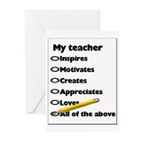 Teacher Appreciation Gifts Greeting Cards (Package