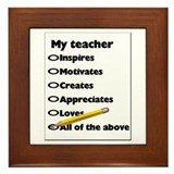 Teacher Appreciation Gifts Framed Tile