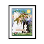 Angel & Border Collie Framed Panel Print