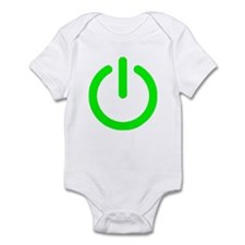Power Button Infant Bodysuit