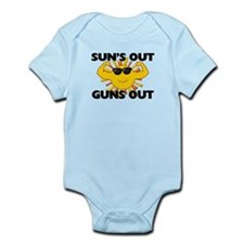 Sun's Out Guns Out Infant Bodysuit