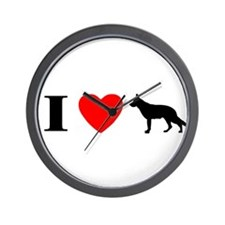 I Heart German Shepherd Wall Clock