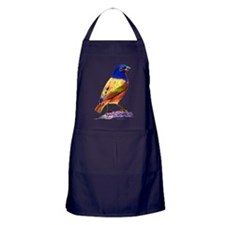 Watercolor Painted Bunting Apron (dark)