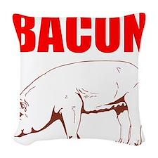 Bacon Woven Throw Pillow