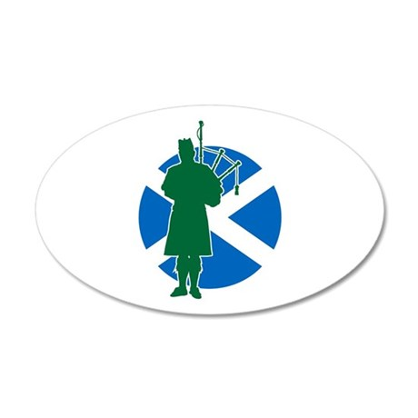Scottish Piper 35x21 Oval Wall Decal