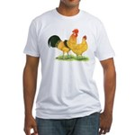 Buff Catalana Chickens Fitted T-Shirt