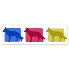 Color Row German Shepherd Bumper Bumper Sticker