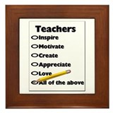 Gifts for Teachers Framed Tile