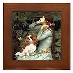 Ophelia & Cavalier Framed Tile