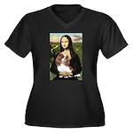 Mona's Cavalier Women's Plus Size V-Neck Dark T-Sh
