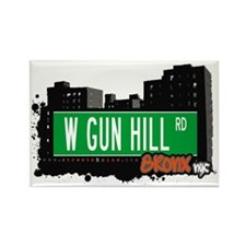 W GUN HILL RD, Bronx, NYC Rectangle Magnet
