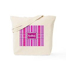 Girly Pink Tribal Chevron Monogram Tote Bag