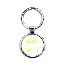 Funny Cindy Round Keychain