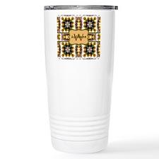 Metallic Gold and Green Travel Mug