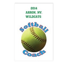 Softball Coach Postcards (package Of 8)