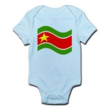 Waving Guadelupe Flag Body Suit