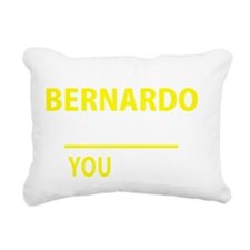Funny Bernardo Rectangular Canvas Pillow