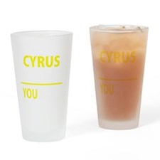 Cute Cyrus Drinking Glass