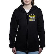 Cute Darrin Women's Zip Hoodie