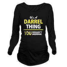 Cute Darrell Long Sleeve Maternity T-Shirt