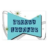 Retro Teacher Gifts Postcards (Package of 8)