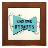 Retro Teacher Gifts Framed Tile