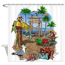 beachshack9x.jpg Shower Curtain