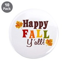 "Happy Fall Yall! 3.5"" Button (10 pack)"