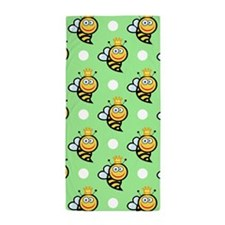 Cute Queen Bee, Light Green White Polka Dots Beach