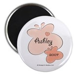 Ashley 2007 Baby Name Year Butterfly Magnet 100 pk