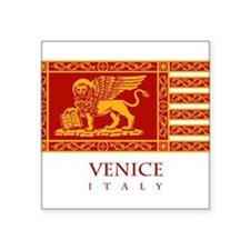 "Cute Venezia Square Sticker 3"" x 3"""