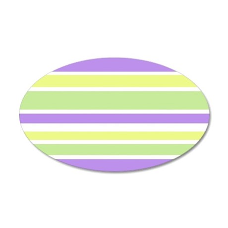 Purple Yellow Green Stripes Wall Decal