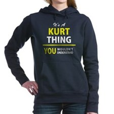 Cute Kurt Women's Hooded Sweatshirt